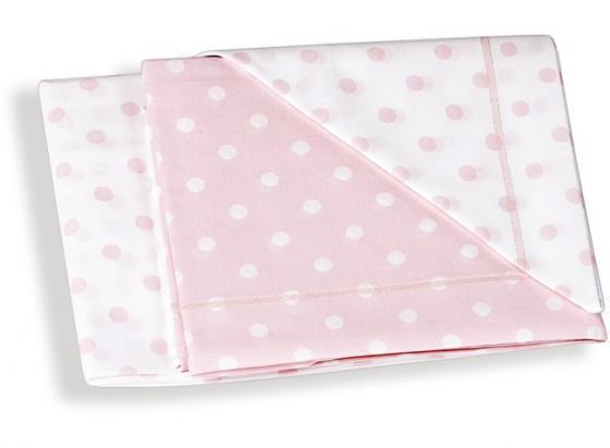 Сменное постельное белье 3 предмета Italbaby (розовый горошек/020.1005-001)