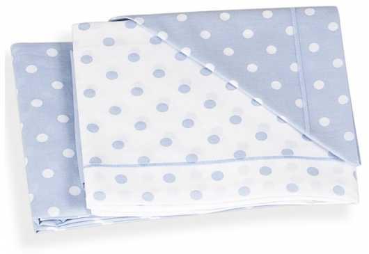 Сменное постельное белье 3 предмета Italbaby (голубой горошек/020.1005-002) топотушки постельное белье дружок 3 предмета голубой