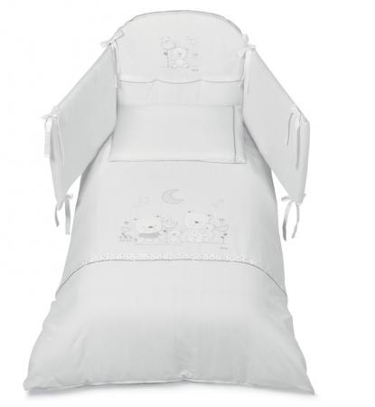 Постельный сет 5 предметов Italbaby Happy Family Romantic (белый/100,0054-5) постельный сет italbaby teddy крем 100 0019 6