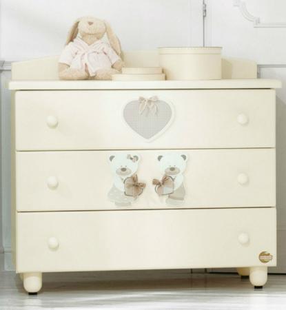Комод бельевой Baby Expert Bon Bon (кремовый) пеленальный комод с ванночкой baby expert bon bon duetto белый серый