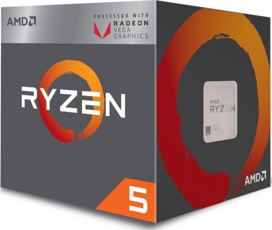 Процессор AMD Ryzen 5 2400G YD2400C5FBBOX Socket AM4 BOX процессор amd ryzen 7 1700x oem yd170xbcm88ae