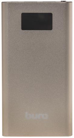 Фото - Внешний аккумулятор Power Bank 10000 мАч BURO RA-10000-QC3.0-I&O золотистый внешний аккумулятор buro ra 16000 3u lcd bk 16000 мач черный
