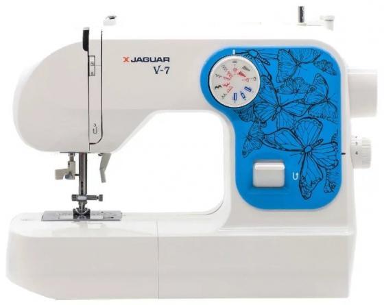 Швейная машина Jaguar V-7 белый/синий швейная машина jaguar v 7 белый синий