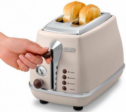 Тостер DeLonghi CTOE 2103.BG бежевый тостер delonghi ctov 2103 az