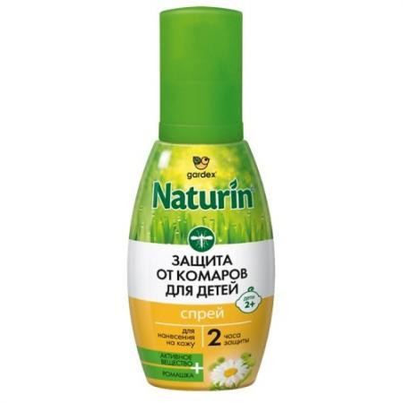 Naturin Спрей от комаров для детей с 2 лет 75 мл спрей от комаров эконом диэтилтолуамид 30% 150 мл