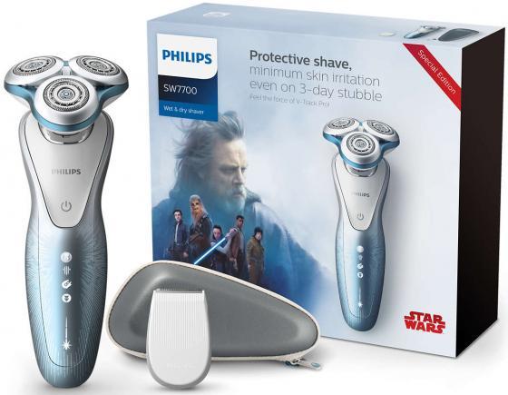 Бритва Philips SW7700/67 голубой philips 15387 30 16