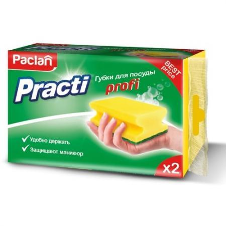 Paclan Practi Profi Губки для посуды 2 шт