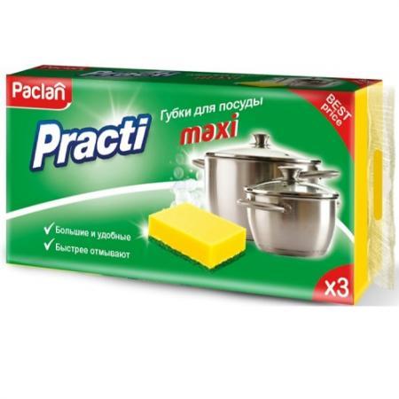 Paclan Practi Maxi Губки для посуды 3 шт york maxi 5 губки д посуды 932327
