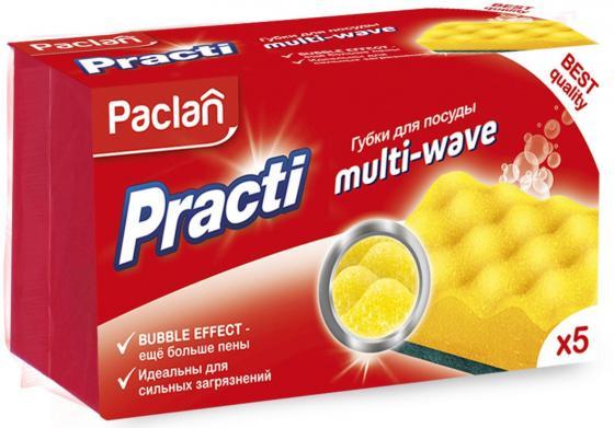 Paclan Practi Multi-Wave Губки для посуды 5 шт