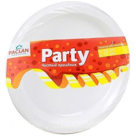 PACLAN Party Тарелка из полистирола 170мм 12шт от Just.ru