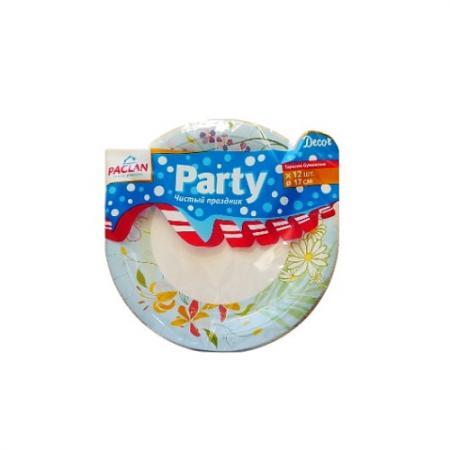 PACLAN Party Тарелка бумаж Decor цветная 230мл 12шт/уп от Just.ru