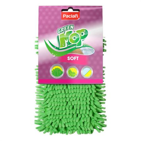 PACLAN Насадка Green Mop плоская шенилл для швабры 1 шт от Just.ru