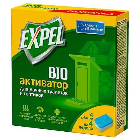 EXPEL Биоактиватор для дачных туалетов и септиков 4 таблетки в упаковке стоимость