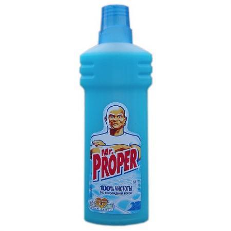 MR PROPER Моющая жидкость для уборки Океанская свежесть 750мл жидкость моющая для полов и стен mr proper океанская свежесть 500 мл