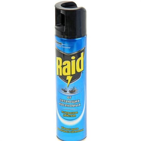 RAID Аэрозоль от летающих насекомых 300мл raid 10шт