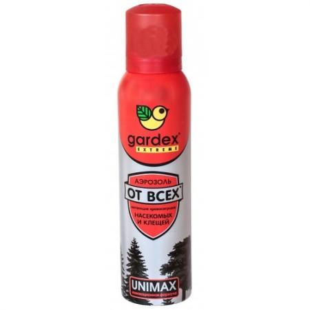 GARDEX Extreme Аэрозоль-репеллент от всех летающих кровососущих насекомых и клещей ПРОМО 10% в подарок 165 мл спрей picnic extreme от всех летающих насекомых и клещей 100мл