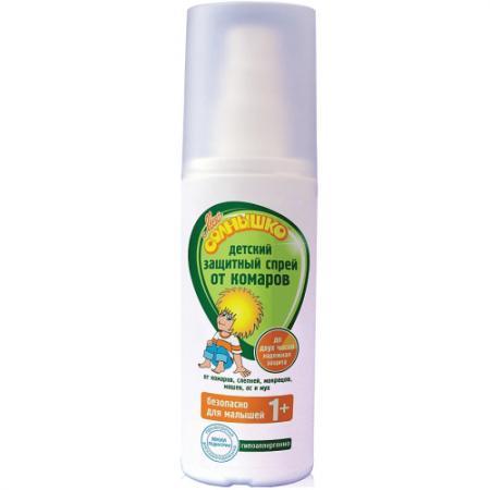 МОЕ СОЛНЫШКО Спрей от комаров детский защитный 100мл мое солнышко спрей от комаров детский 100мл