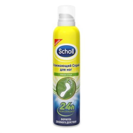 SCHOLL Спрей для ног Deo-Activ Fresh Освежающий активного действия 150 мл косметика для мамы rexona легкость хлопка дезодорант спрей deo 150 мл