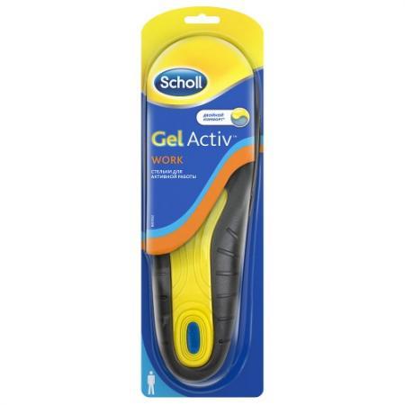 Scholl GelActiv Work Стельки для активной работы для мужчин scholl gelactiv everyday стельки для комфорта на каждый день для мужчин