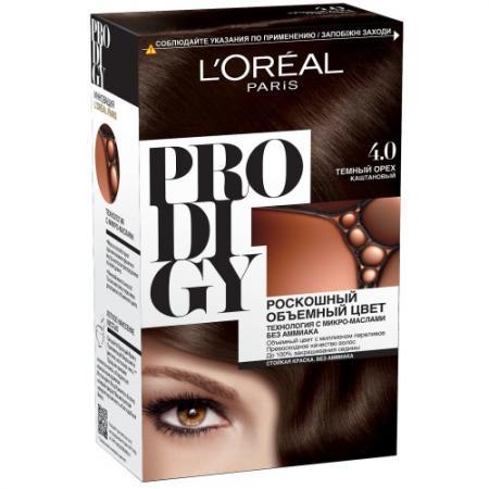 LOREAL PRODIGY Краска для волос тон 4.0 темный орех l oreal prodigy краска для волос тон 3 0 темный шоколад