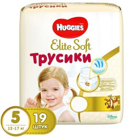 HUGGIES Трусики - подгузники Элит Софт 5 12-22 кг 19 шт huggies трусики подгузники элит софт 4 8 14 кг 21 шт