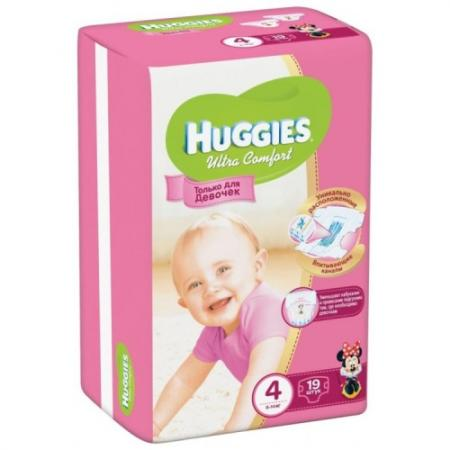 HUGGIES Подгузники Ultra Comfort Размер 4 8-14кг 19шт для девочек huggies подгузники huggies ultra comfort для девочек giga pack 4 8 14 кг 80 шт