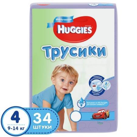 HUGGIES Подгузники-трусики Джинс размер 4 9-14кг 34шт для мальчиков