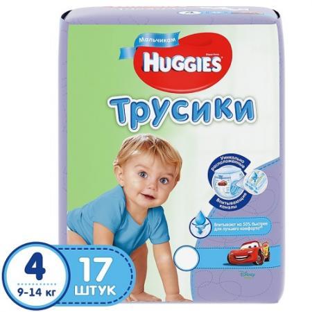 HUGGIES Подгузники-трусики Литтл Волкерс Размер 4 9-14кг 17шт для мальчиков