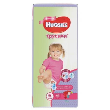 где купить HUGGIES Подгузники-трусики Annapurna Размер 6 16-22кг 44шт для девочек по лучшей цене