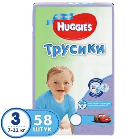 цена на HUGGIES Подгузники-трусики PANTS Annapurna Размер 3 7-11кг 58 шт для мальчиков