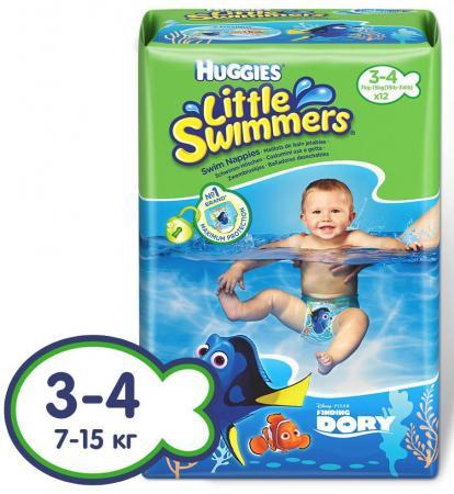 HUGGIES Подгузники-трусики для плавания размер 3-4 7-15кг 12шт pui hing 350mg 30 3