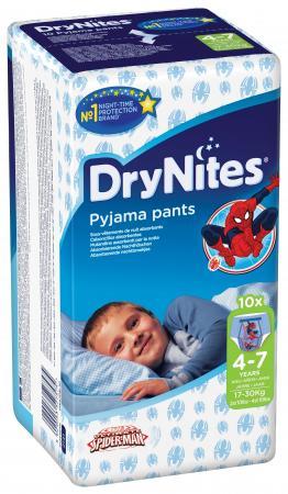 HUGGIES Трусики DryNights для мальчиков 4-7лет 10шт huggies трусики huggies drynites для мальчиков 4 7 лет 17 30 кг 10 шт
