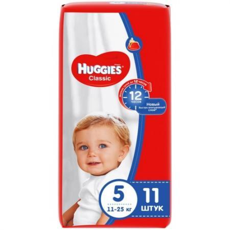 HUGGIES Подгузники CLASSIC Размер 5 11-25кг 11шт игорь и татьяна новосёловы про мальчишек идевчонок