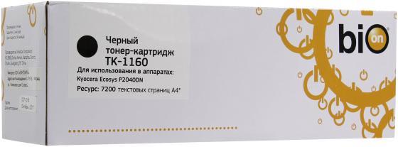 Фото - Картридж Bion TK-1160 для Kyocera-Mita P2040dn/P2040dw черный 7200стр t2 tk 1160 тонер картридж tc k1160 для kyocera p2040dn p2040dw 7200 стр с чипом