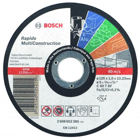 Отрезной круг Bosch 125х1мм 2608602385 bosch к 30