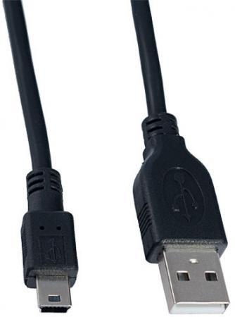 Кабель miniUSB 1м Perfeo U4301 круглый черный кабель lightning 1м wiiix круглый cb120 u8 10b