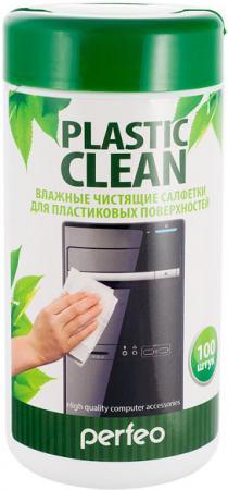 Чистящие салфетки Perfeo Plastic Clean 100 шт PF-T/PC-100 защитные пластиковые пакеты plastic liners 100 шт