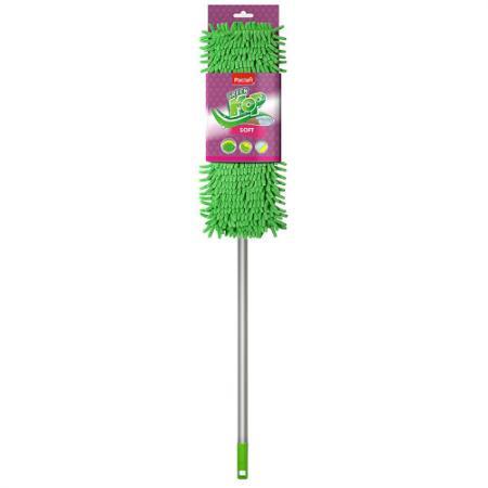 PACLAN Швабра Green Mop soft с плоской насадкой шенилл и телескопической ручкой 1 шт швабра loks super cleaning с насадкой для отжима цвет розовый l10 2757 11