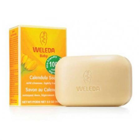 Мыло твердое WELEDA 9894 100 гр твердое мыло мыло крем туалетное твердое глицериновое sodasan лаванда 100 гр