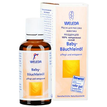 WELEDA Масло для массажа животика младенцев 50 мл weleda массажное масло с арникой 50 мл