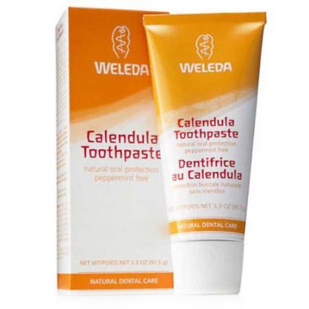 WELEDA Зубная паста с календулой без запаха мяты 75 мл