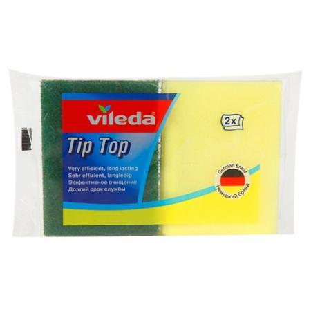 ВИЛЕДА Губка для посуды Тип Топ 2 шт губка vileda для посуды пур актив 2 шт 116511