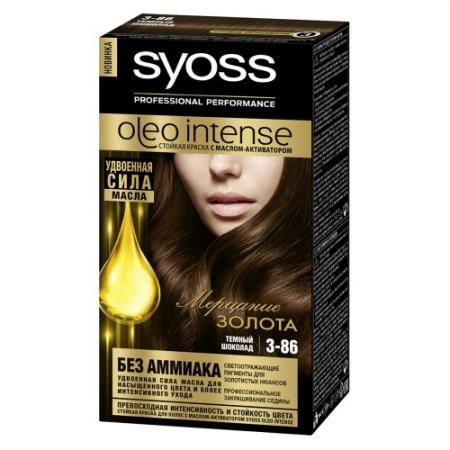 SYOSS Oleo Intense Краска для волос 3-86 Темный Шоколад 115 мл цены