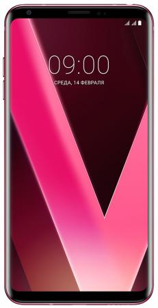 Смартфон LG V30+ розовый 6 128 Гб NFC LTE Wi-Fi GPS 3G LGH930DS.ACISRP смартфон apple iphone 6 серый 4 7 32 гб nfc lte wi fi gps 3g mq3d2ru a