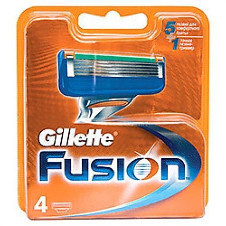GILLETTE Fusion Сменные кассеты 4шт gillette сменные кассеты fusion proglide 6 шт