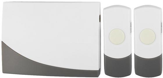 Звонок дверной беспроводной Эра C91-2 белый серый
