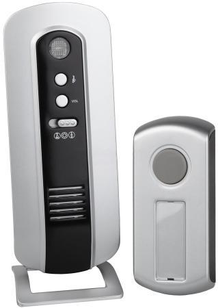 Звонок дверной беспроводной Эра C108 серебристый черный светодиодный беспроводной перезвон дверной звонок дверной звонок