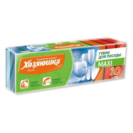 ХОЗЯЮШКА Мила Губка для посуды MAXI 10шт от Just.ru