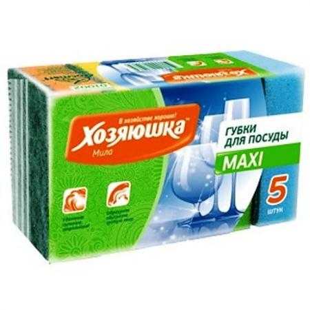 цена на ХОЗЯЮШКА Мила Губка для посуды MAXI 5шт
