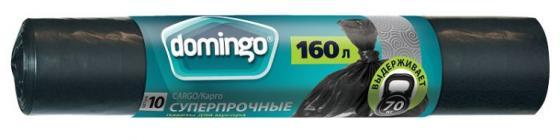 ДОМИНГО Пакеты для мусора суперпрочные в рулоне 160л 10шт КАРГО пакеты д мусора praktisch 120л черные в рулоне 10шт 24шт 6122
